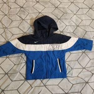 Boys Nike Lightweight Jacket Blue White Hood